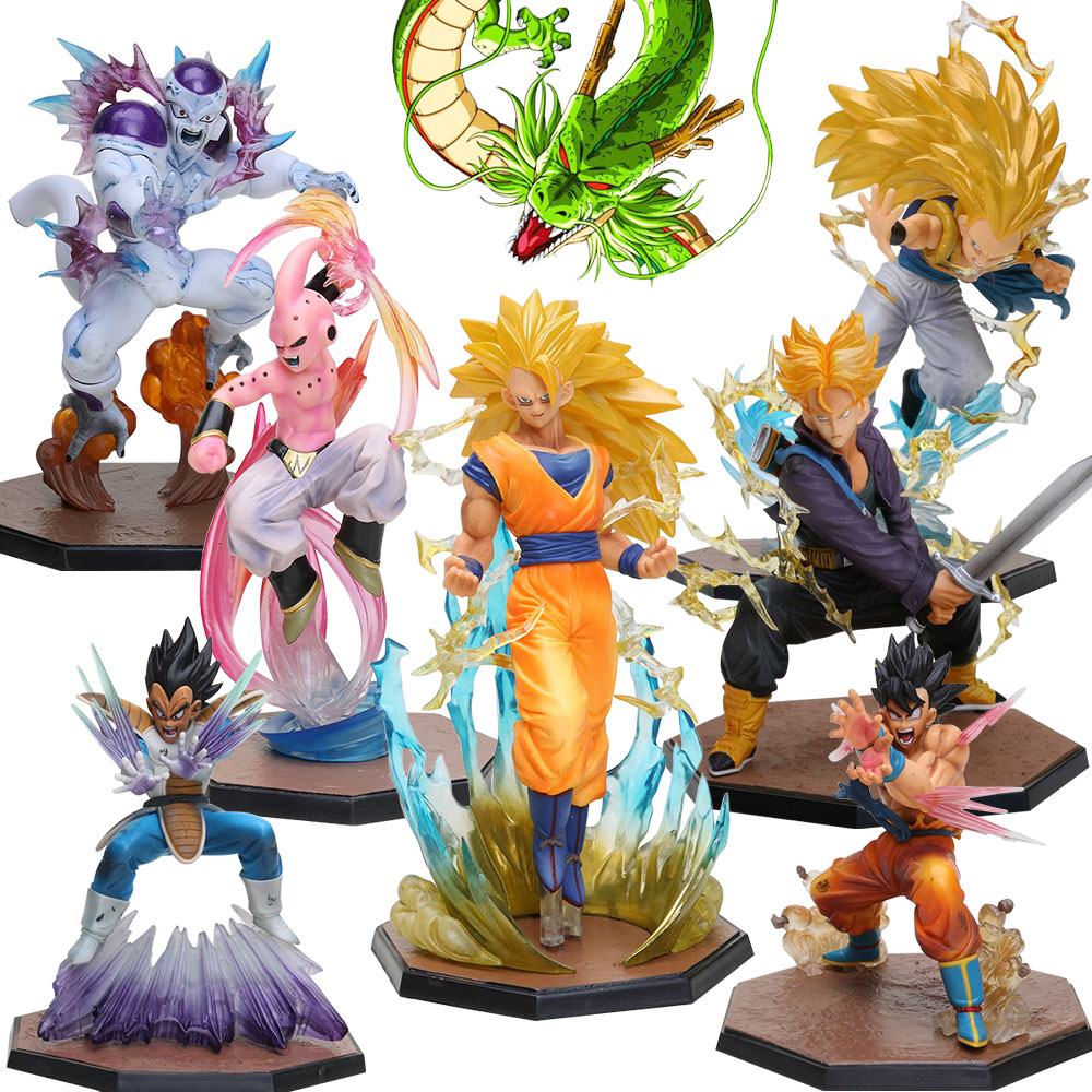 Toys & Hobbies Obedient Dragon Ball Z Goku Action Figure Super Saiyan Kamehameha Led Light Anime Dragon Ball Z Figurine Model Toy Son Goku Lamp