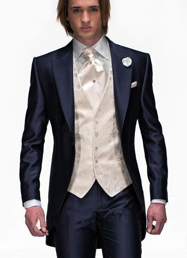 Aliexpress.com : Buy Groom Groomsmen Tuxedos Custom Made Slim Fit ...