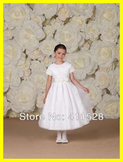 Kids niña de las flores vestidos novia corto Macys primera comunión ...