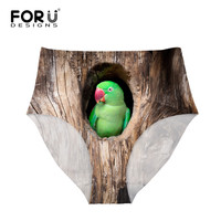 FORUDESIGNS Sexy Funny Birds On The Hole Underwear Animal Printing Seamless Panties Women High Waist Briefs