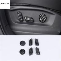 6pcs/lot ABS carbon fiber grain Seat control adjustment button decoration for 2017 2018 Volkswagen VW Tiguan MK2 Tiguan L