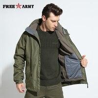 Brand Men Waterproof Jackets Detachable Lining Winter Warm Fleece Jacket Hooded Windbreakers Large Size Men S