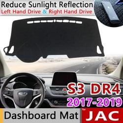 for JAC S3 Heyue S30 DR4 2017 2018 2019 Anti-Slip Mat Dashboard Cover Pad Sunshade Dashmat Protect Carpet Anti-UV Accessories