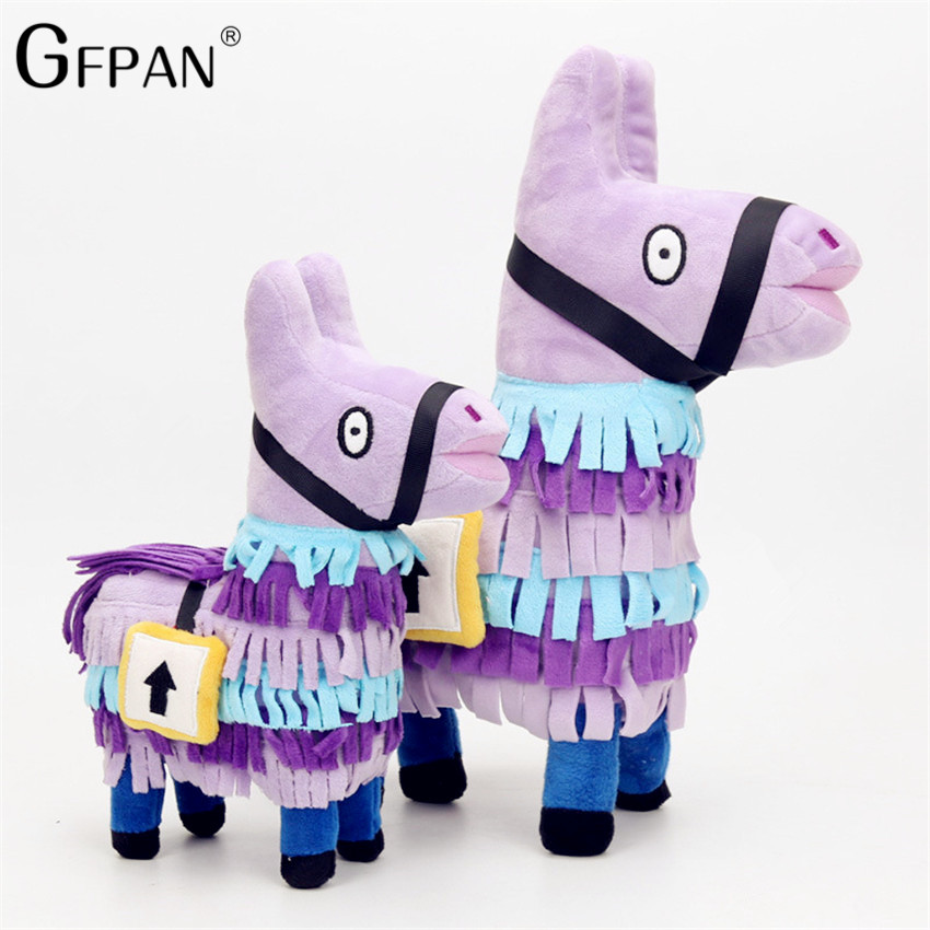 New 35CM Magic Doll Stuffed Alpaca Rainbow Horse Hot Game Fortnite Troll Stash Llama Soft Plush Toy Birthday Gift kid Brinquedos