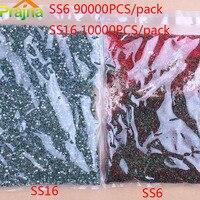 Zotoone al por mayor 10000/90000 unids SS6 SS16 AB color Diamantes con piedras falsas Manicura Decoración hotfix ropa ajuste aplicador Piedras Acryl
