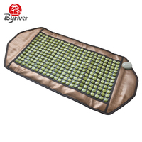 BYRIVER Far Infrared Electric Heating Pad Jade Tourmaline Germanium Ceramic Waist Body Massager Warm Household Mat Bed Mattress