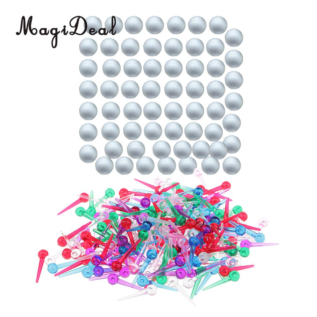 Hanging Pins /& Caps for Polystyrene Modeling Balls /& other Decorations