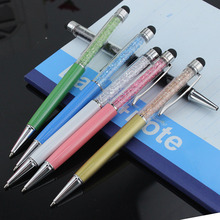 5PCS/Lot Crystal Pen Diamond Ballpoint Pens Stationery Ballpen Caneta Novelty Gift Zakka Office Material School Supplies(China)