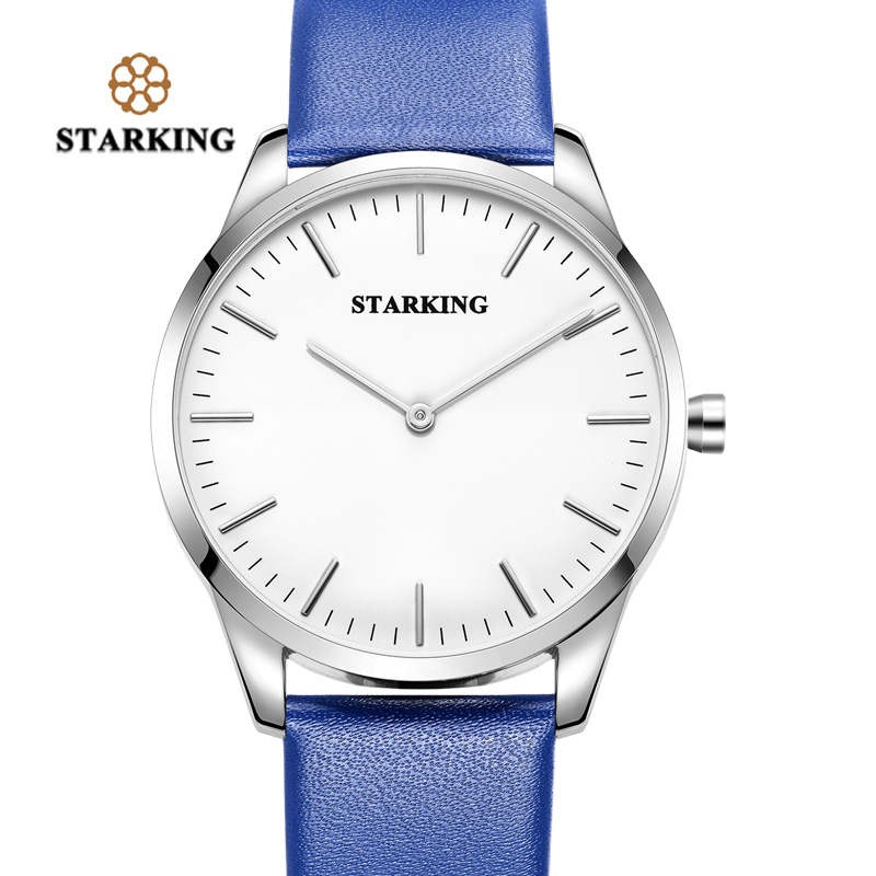 STARKING Brand Analog Watch Fashion Casual Blue Men Watch Waterproof Leather Quartz Relogio Masculino Simple China Wrist Watch chronos brand fashion men s watch casual ladies quartz watch simple nylon strap hit color couple watch relogio masculino