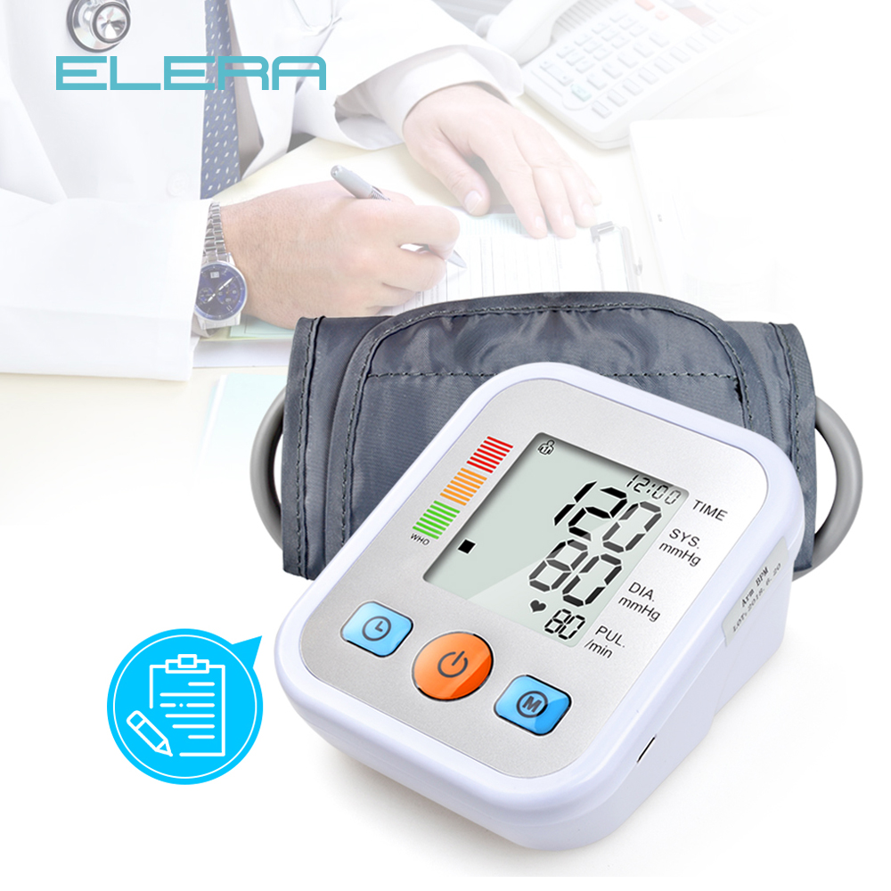 ELERA Home Health Care Blutdruck Monitor Oberen Arm Blutdruck Meter blutdruckmessgerät Tonometer für messen Tensiometro