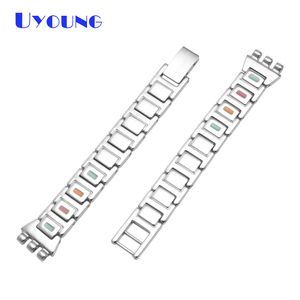 Image 3 - Latest girls student stainless steel bracelet 12mm for swatch LK258G LK373G LB160G LK375G Small size heart shaped watch strap