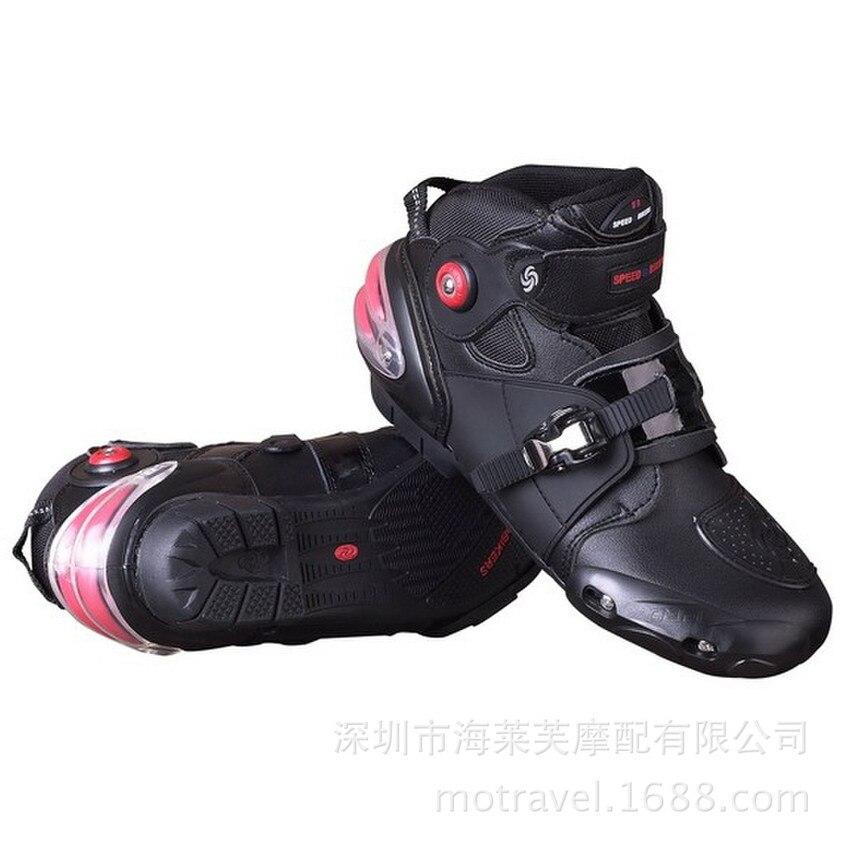 Bottes de moto en cuir résistance aux chutes bottes pour Moto et Scooter imperméables 1