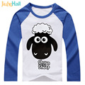 Jiuhehall 2 - 6 Years Old Boy Girl Costume Cartoon Sheep Kids Tee Tops Full Cotton Children Fashion T-Shirts DCM075