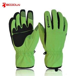Image 1 - BOODUN Men Women Ski Gloves Winter Thermal Fleece Warm Breathable Snowboard Sports Windproof Waterproof Snow Skiing Gloves