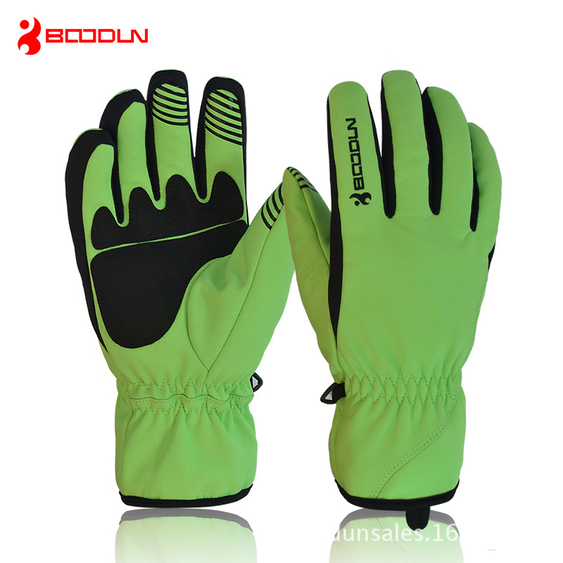 Thermal Fleece Men Women Ski Skiing Gloves Snowboard Motorcycle Bike Bicycle Cycling Winter Sports Windproof Waterproof Gloves