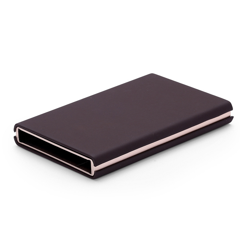 Metal Travel Card Wallet Automatic Pop up Click Slide Card Holder Stainless Steel Bank Card Case Credit & ID Cardcase Cover