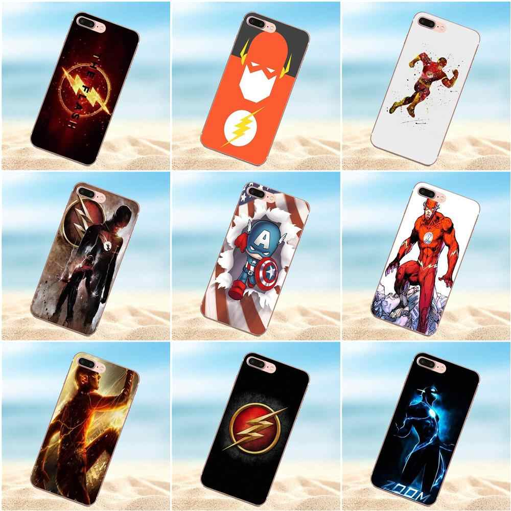 Flash Tv Series The Flash Logo TPU Phone Covers Case For Xiaomi Redmi 5 4A  3 3S Pro Mi4 Mi4i Mi5 Mi5S Mi Max Mix 2 Note 3 4 Plus