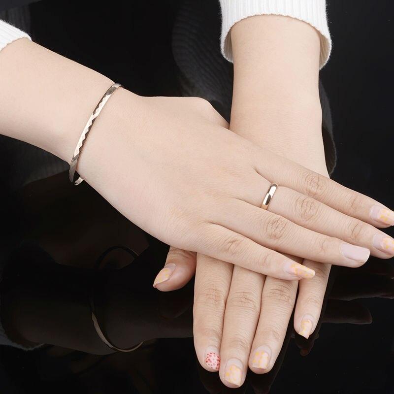 Haute qualité belle plaqué or Rose tungstène or Bracelet Bracelet bijoux pour femme/filles/dame boîte-cadeau gratuite - 6