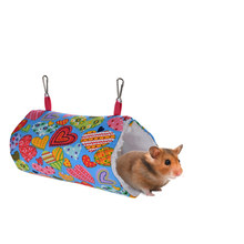 Soft Warm Tunnel Swing Nest Cages Small Animal Hanging Cave Hedgehog Cavia Guinea Pig Bed Hamster Hammock Squirrel Rat(China)