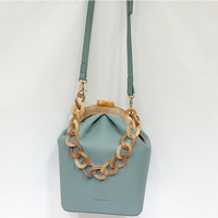 Acrylic Box Bag Women Handbag Acrylic Clip Evening Bag For Woman Chain Bucket Bag Luxury Banquet Party Purse Shoulder Bags 2019