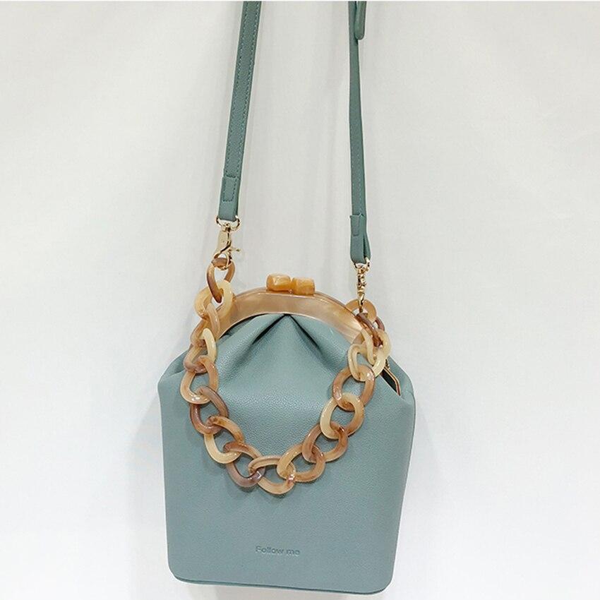 Acrylique boîte sac femmes sac à main acrylique Clip sac de soirée pour femme chaîne seau sac luxe Banquet fête sac à main épaule sacs 2019