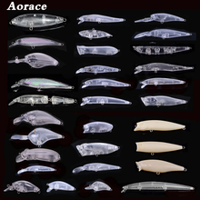 5PCS Kinds of Blank Crankbait Vib Minnow Wobblers Unpainted Hard Bait Fishing Lure Bodies Tackle Hard Fishing Lures