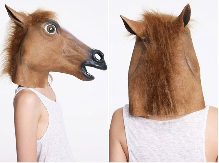 Promotion COSPLAY Horsehead Mask Horse retaining cap Halloween Supplies ...
