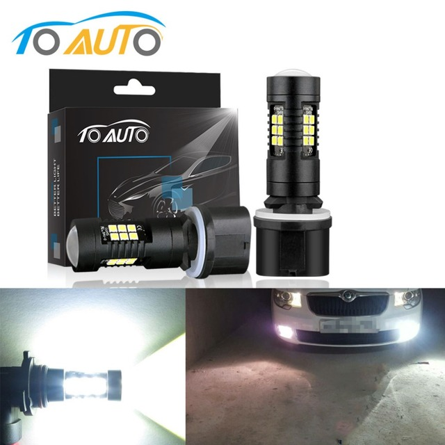 2Pcs H27 880 881 Led Bulb P13W PSX26W LED 1200LM 6000K White Car DRL Fog Light Driving Lamps 12V 24V Auto H27W/2 H27W/1