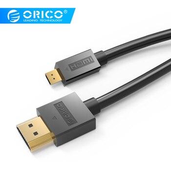 ORICO 4 K 3D Mirco HDMI para HDMI Cabo HDMI 2.0 Conector Para TV LCD Projetor PS3 PS4 xbox 360 PC cabo de Vídeo Hdmi