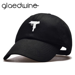 Glaedwine top vente Uzi pistolet casquette de Baseball US mode 2017 Ak47 Snapback Hip hop casquette courbe visière 6 panneau chapeau casquette de marque