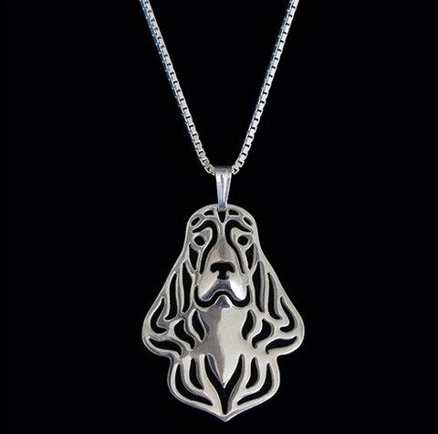 Ожерелье с подвеской в виде бульдога 12 шт/лот