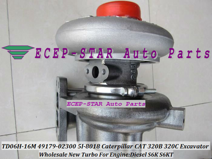 Free Ship TD06 TD06H-16M 49179-02300 49179-02260 5I-8018 Turbo For Caterpillar <font><b>CAT</b></font> 320B <font><b>320C</b></font> 320D 323D 320L <font><b>Excavator</b></font> S6K S6KT image