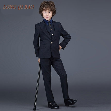 Fashion Girl Boys Black Casual Blazers Jacket Wedding Suits For Boy