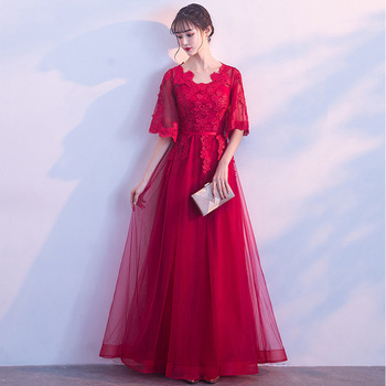Bride Party Dress Oriental Womens Cheongsam Noble Chinese Style Elegant Long Qipao Luxury Wedding Robes Clothes Vestido XS-XXL