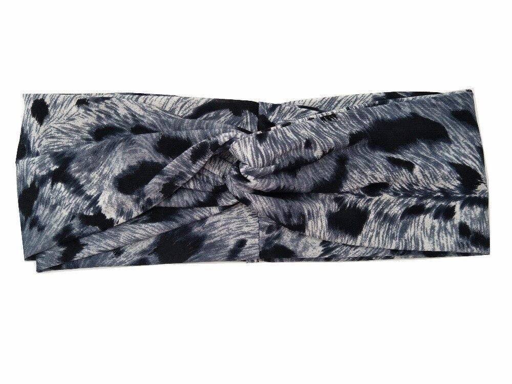 acessório de cabelo preto listras torção headwear para as mulheres turbante