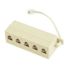 Телефонный адаптер RJ11 6P4C штекер на 5 портов 6P4C гнездо телефонная линия адаптер сплиттер разъем горячий