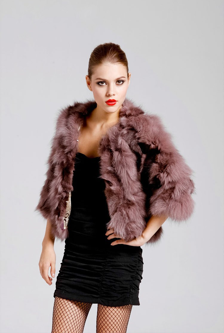 genuine real natural fox fur coat women short luxury jacket fashion waistcoats winter coats Wholesale retail free shipping EMS