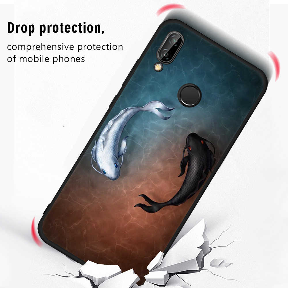 TPU Cover Phone Case For Huawei Honor 9 8 Lite Y9 2018 Enjoy 8 Plus Nova 2i 3E P8 P9 Lite 2017 P20 Lite Pro Cute Cat Fish Fundas