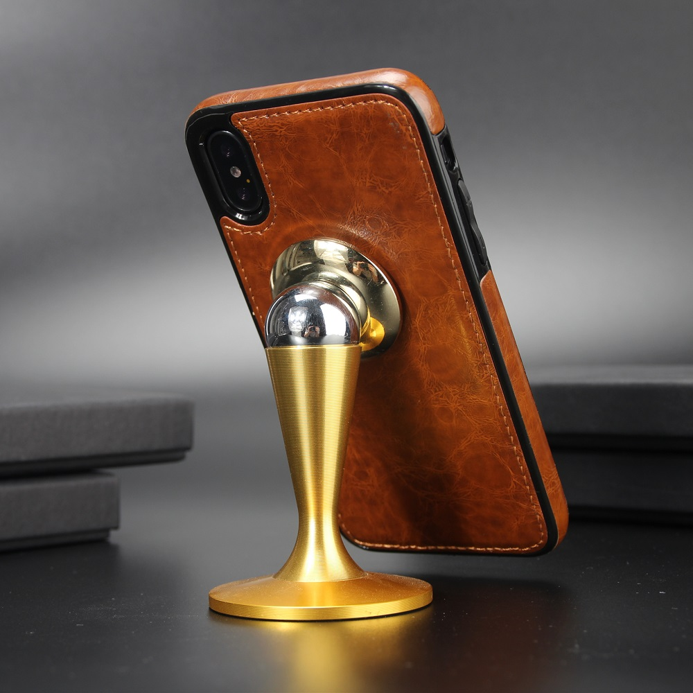 Metal Magnet Cover <font><b>Car</b></font> <font><b>phone</b></font> leather For SamsungS8/S9 <font><b>S8</b></font>/S9Plus S7/S6 S7/S6edge <font><b>Car</b></font> <font><b>Holder</b></font> Stand Cover For iphone X 8 7 6 6 Plus