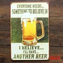 Venta al por mayor pintura metálica retro lata cartel para bar KTV decoración de la pared del pub vintage cerveza cartel publicitario
