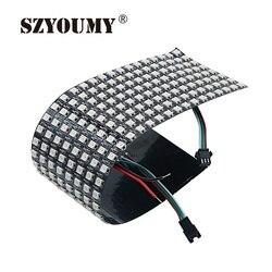 Szyoumy WS2812B 5050 RGB SMD 8*32 Piksel Digital Fleksibel Dot Matrix Secara Individual Addressable LED Display Layar 3 Ukuran pilihan