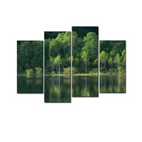 Artwork Lake Landscape Pictures Canvas Paintings Modern Wall Art Pictures Scene Canvas HD Spray For Living