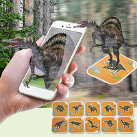Augmented Reality Toys Baby Early Education 3d Dinosaur AR Cards Children Kids Learning Knowledge Educational AR