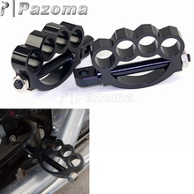 PAZOMA BLACK  fit for ALL motorcycle with male-mount foot pegsFoot Pegs Sportster Softail Dyna Touring
