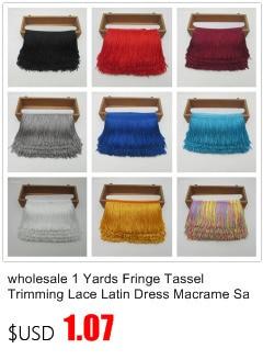 1 ярд, бахрома, отделка с кисточками, кружево, латинское платье, макраме, Самба, Одежда для танцев, кружево, полиэстер, одна полоса, ширина 10 см