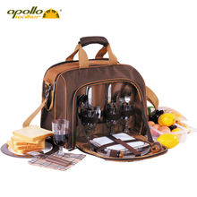 Dinnerware-Set Cooler-Bag Picnic Portable Apollo Lining Sooktops Full-Set-Set Aluminum-Foil