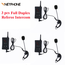 3 pcs 2016 Latest Vnetphone Brand Football Soccer Referee Intercom Motorcycle Intercom Full Duplex Bluetooth Referee Headset цена в Москве и Питере