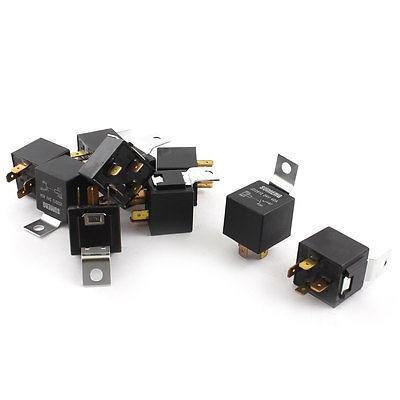 10 Pcs DC24V 40A On/Off 4-Pin Normally Open Car Truck Bike Boat Relay normally open single phase solid state relay ssr mgr 1 d48120 120a control dc ac 24 480v