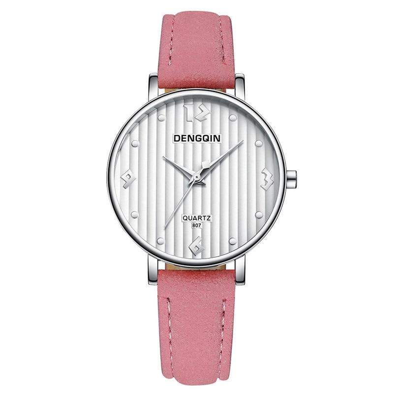 Fashion Women Watch Top Brand DENGQIN Watches Leather Casual Wrist Watch  Watch Ladies Gifts Clock Relogio Feminino 4yl