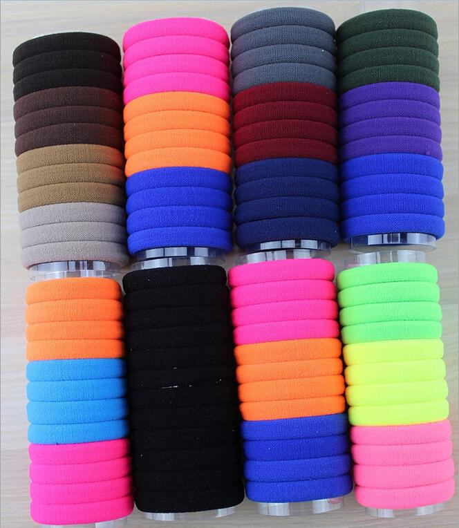 Diameter 4cm 24pcs/pack Elastic Hair Rubber Bands Baby Girls Kids Children Hair Accessories Rope Headwear kk1516 lnrrabc 12pcs pack elastic hair bands headband stretchy hair rope rubber bands hair accessories for accessoire cheveux
